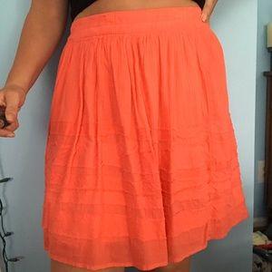 Coral Layered Midi Skirt
